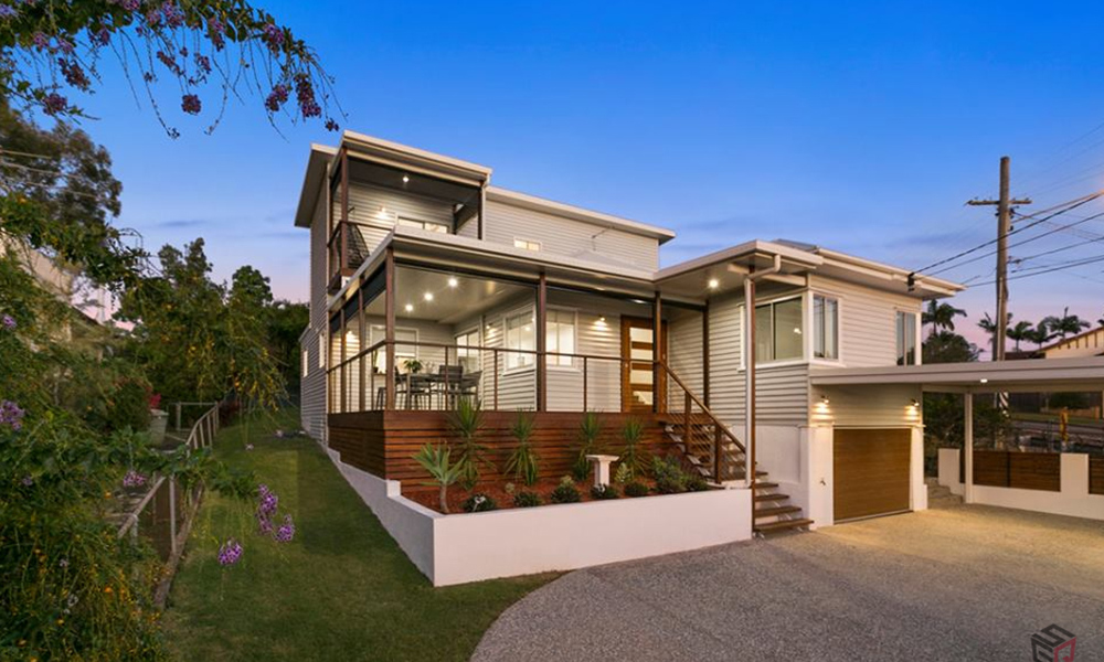 A home facade by SEQ Builders